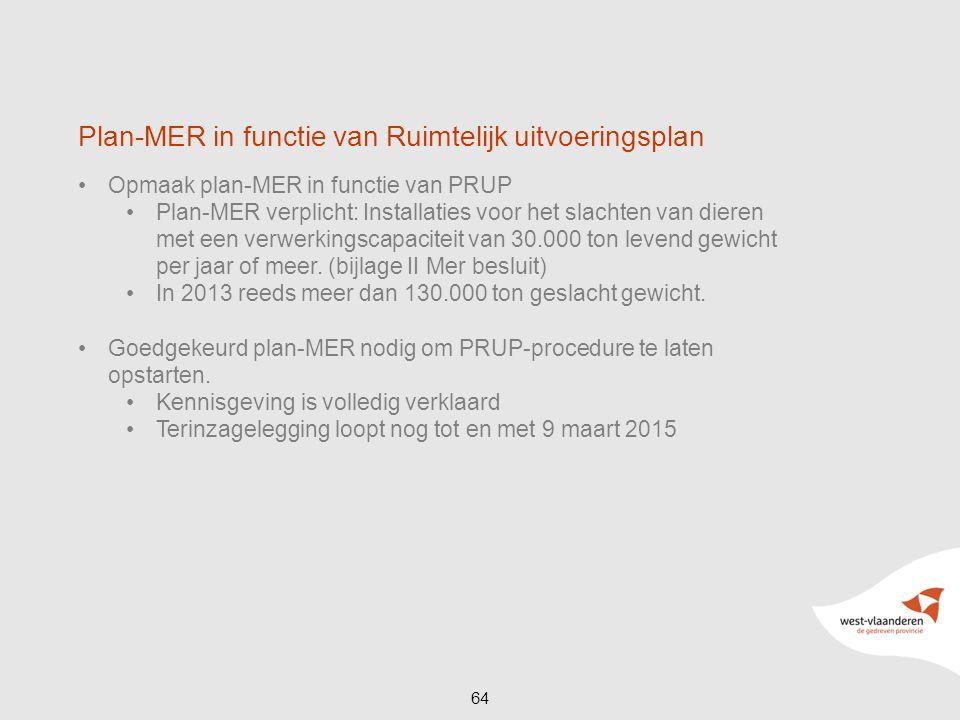 Plan-MER in functie van Ruimtelijk uitvoeringsplan