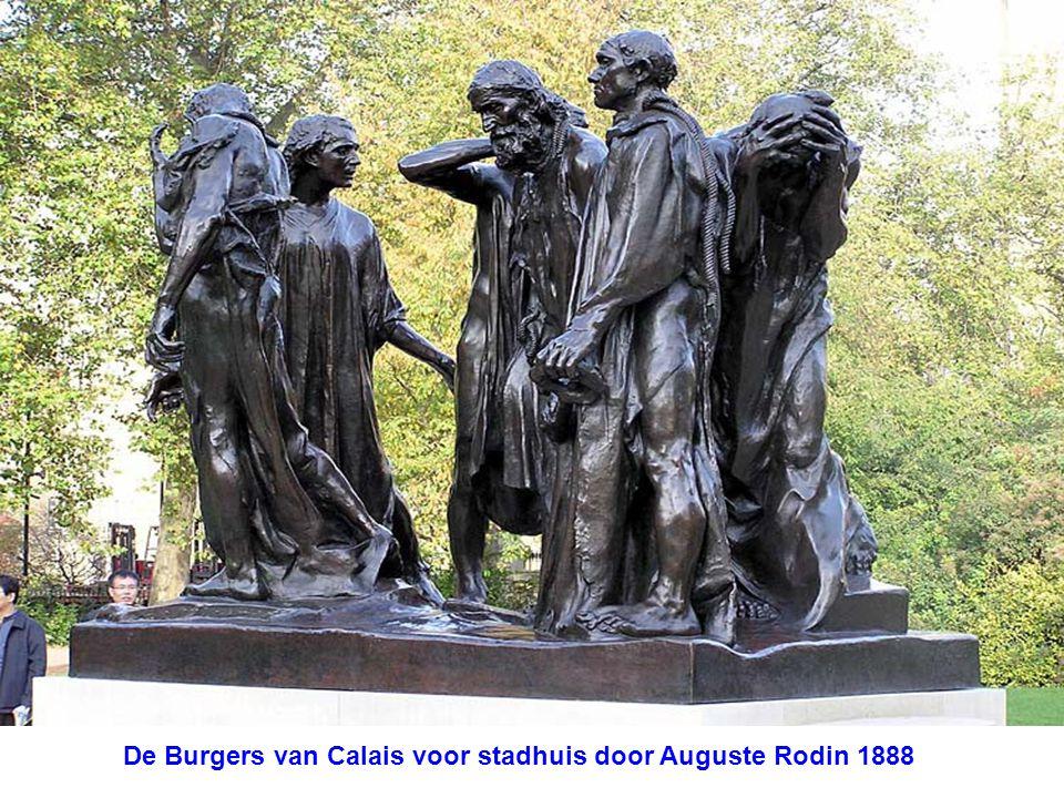 De Burgers van Calais voor stadhuis door Auguste Rodin 1888
