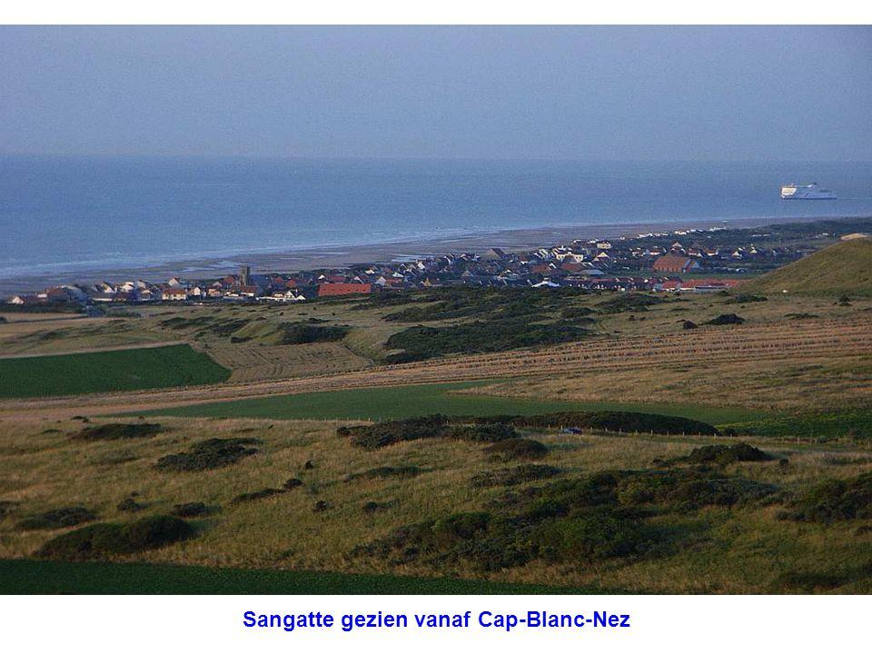 Sangatte gezien vanaf Cap-Blanc-Nez