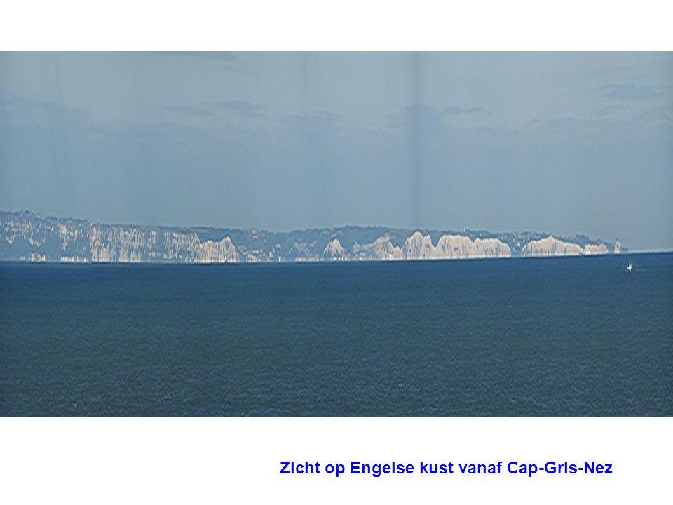Zicht op Engelse kust vanaf Cap-Gris-Nez