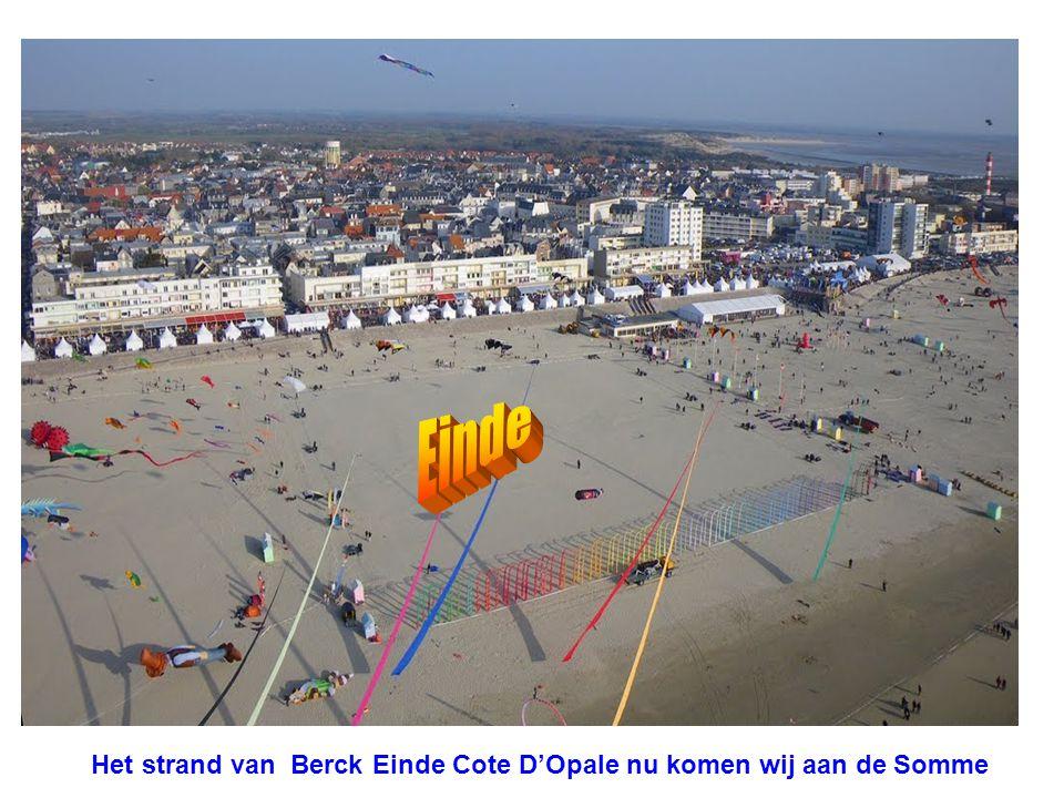 Het strand van Berck Einde Cote D'Opale nu komen wij aan de Somme