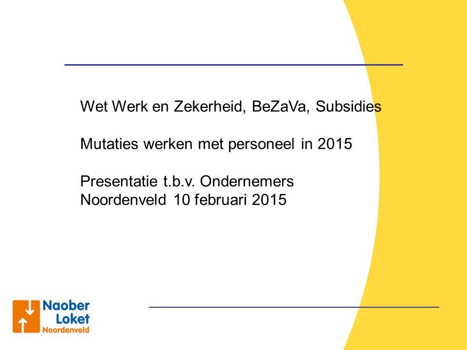 Wet Werk en Zekerheid, BeZaVa, Subsidies