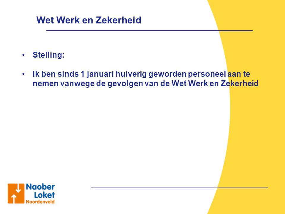 Wet Werk en Zekerheid Stelling: