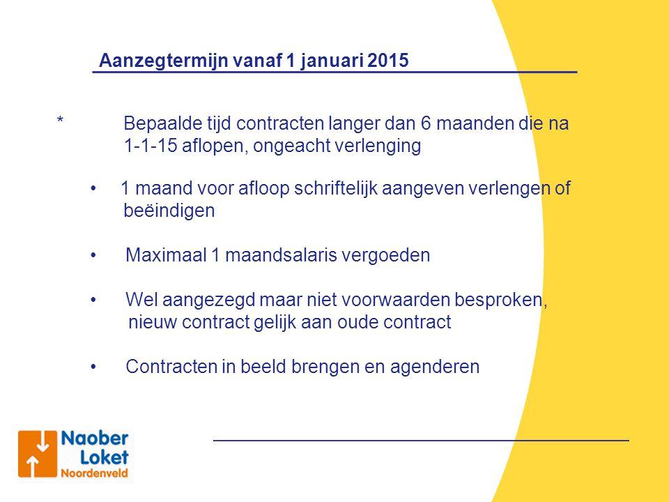 Aanzegtermijn vanaf 1 januari 2015