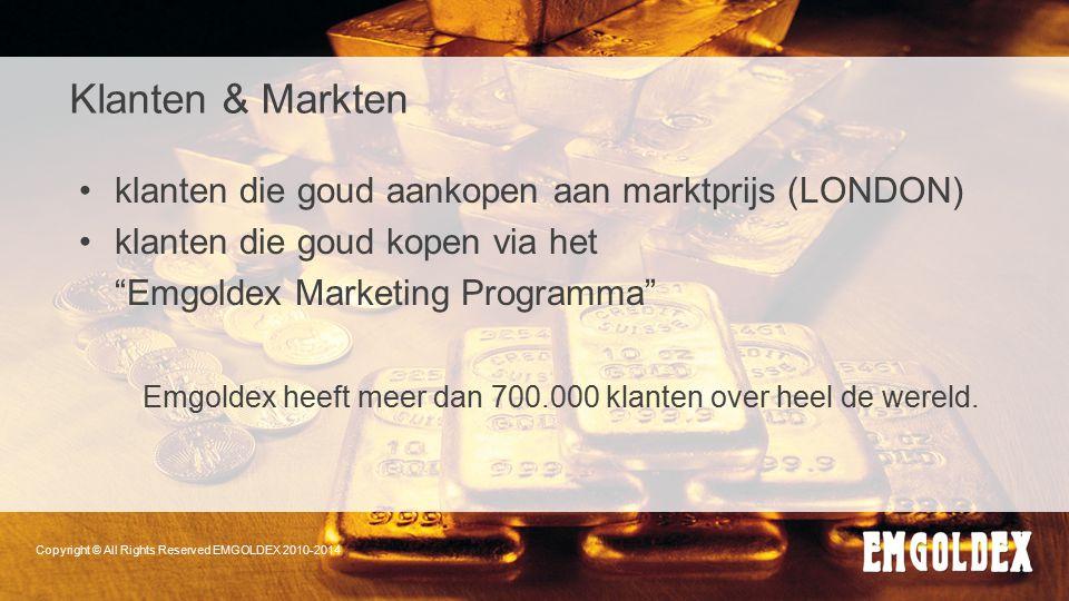 Klanten & Markten klanten die goud aankopen aan marktprijs (LONDON)