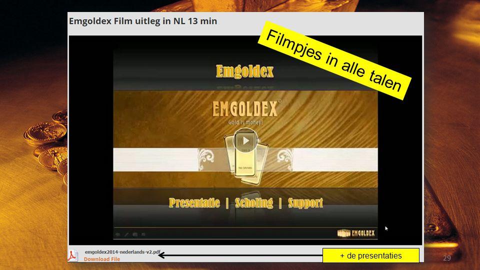 Filmpjes in alle talen + de presentaties