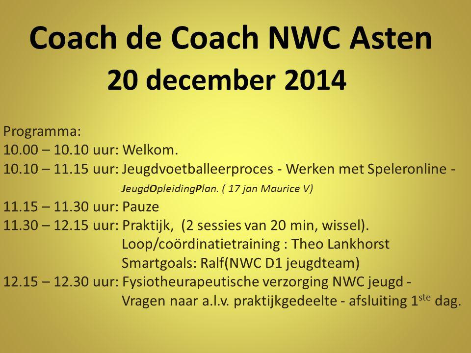 Coach de Coach NWC Asten