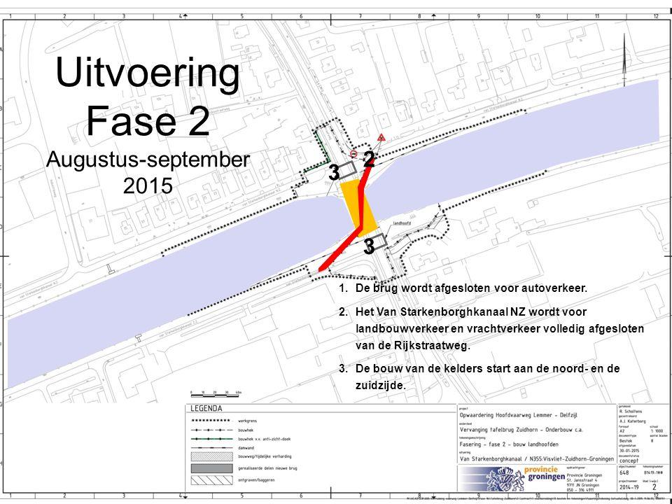Uitvoering Fase 2 Augustus-september 2015 2 3 3