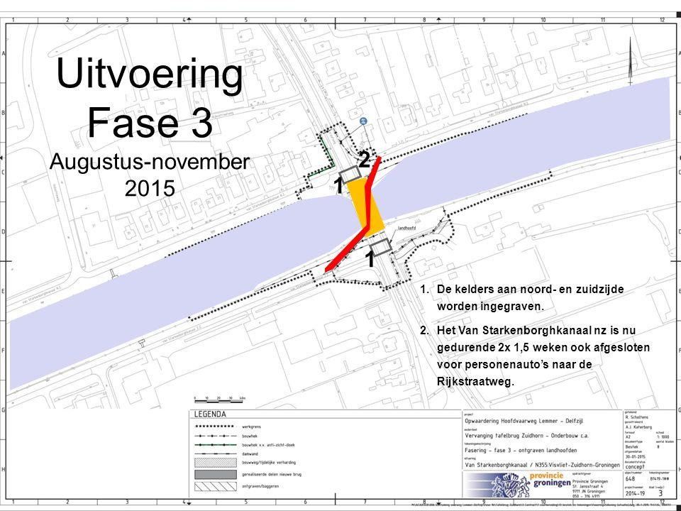 Uitvoering Fase 3 Augustus-november 2015 2 1 1