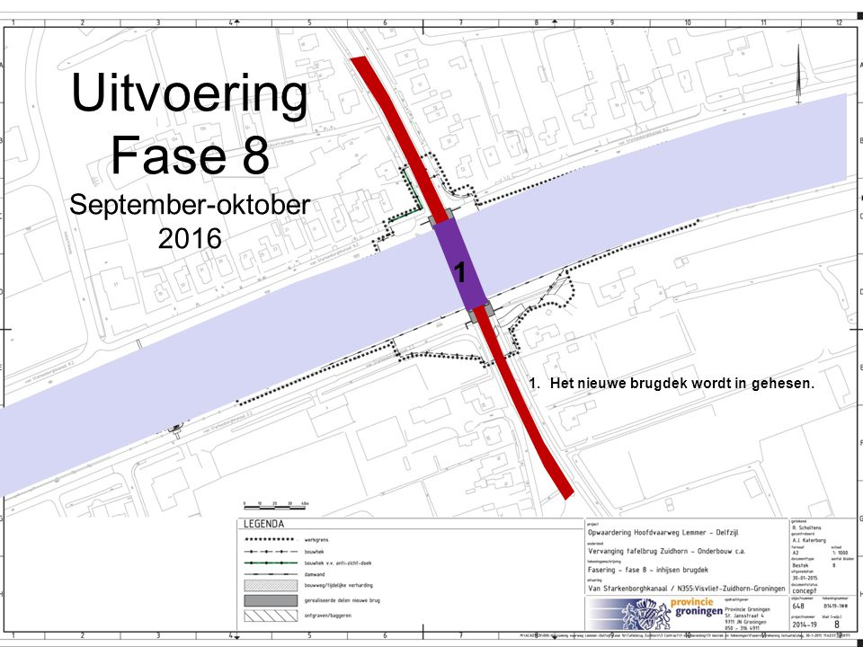 Uitvoering Fase 8 September-oktober 2016 1
