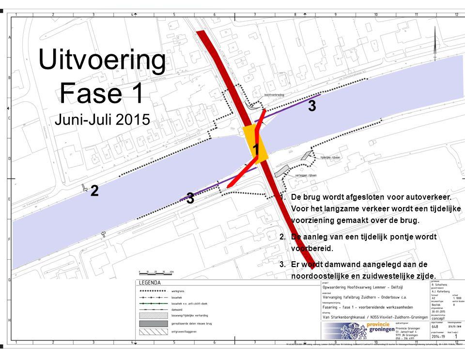 Uitvoering Fase 1 Juni-Juli 2015 3 1 2 3