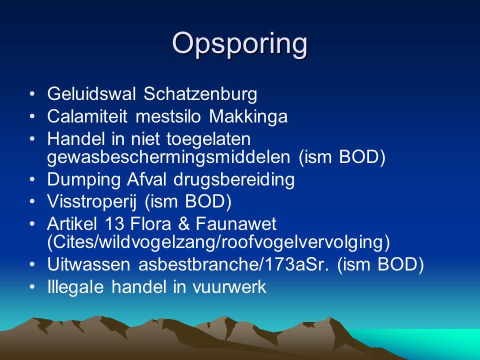 Opsporing Geluidswal Schatzenburg Calamiteit mestsilo Makkinga