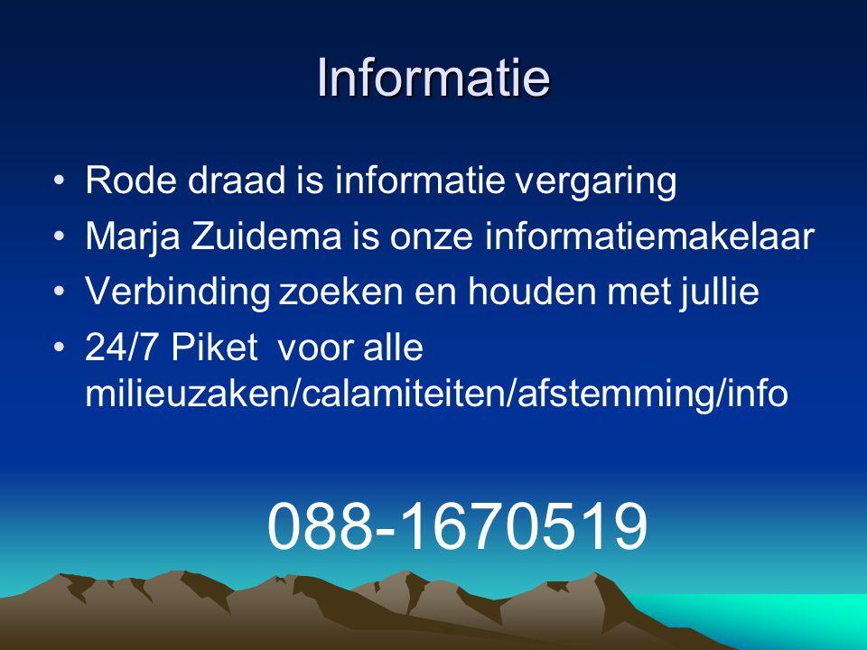 Informatie Rode draad is informatie vergaring