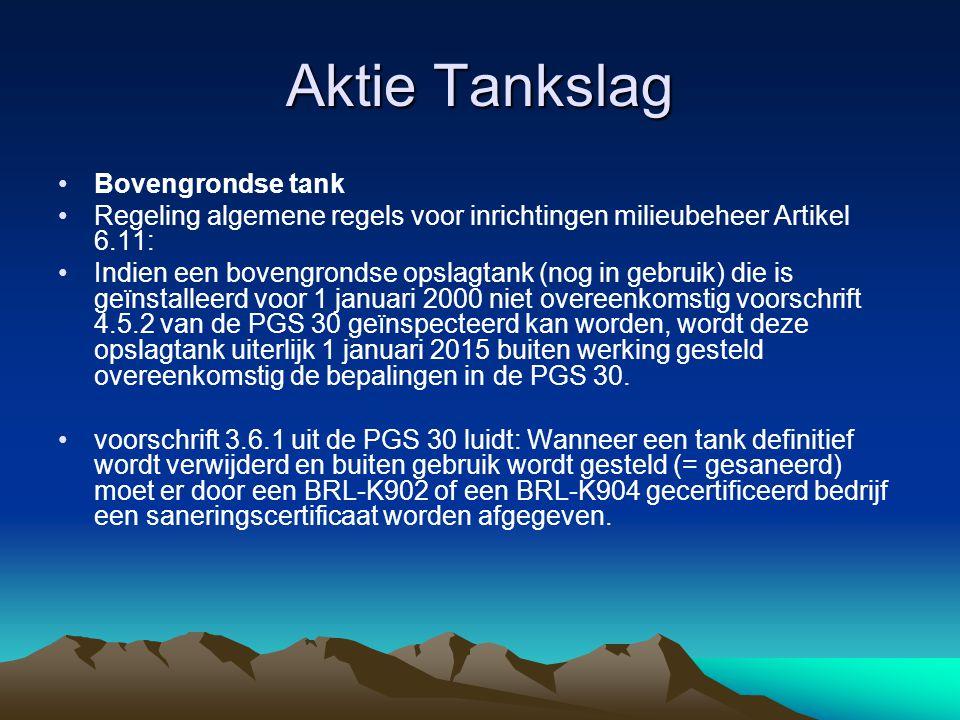 Aktie Tankslag Bovengrondse tank