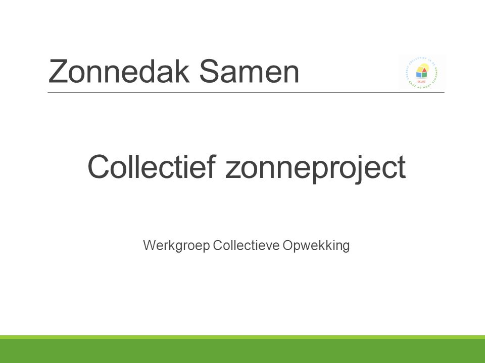 Collectief zonneproject