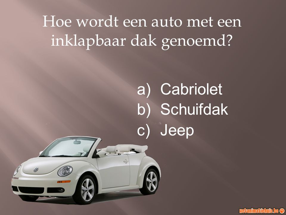 Hoe wordt een auto met een inklapbaar dak genoemd