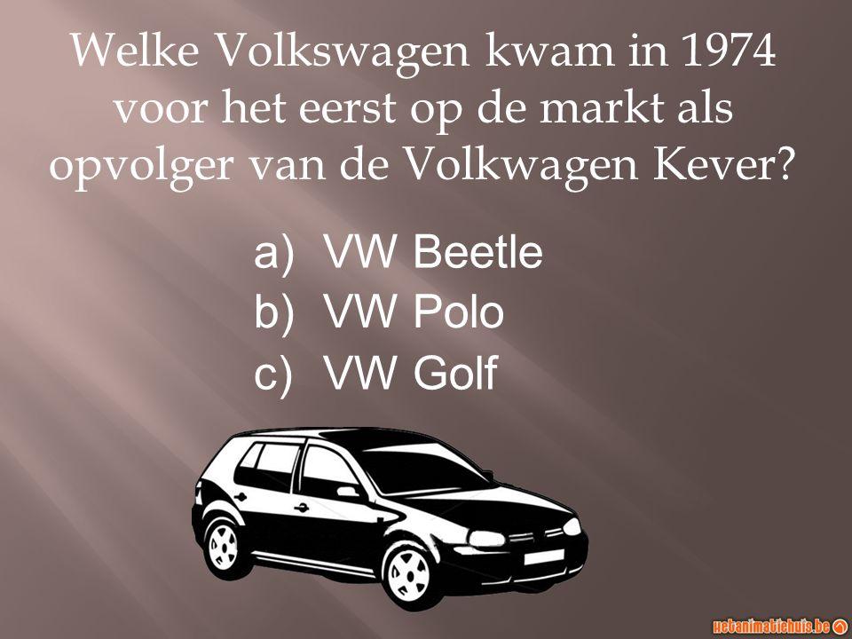Welke Volkswagen kwam in 1974 voor het eerst op de markt als opvolger van de Volkwagen Kever