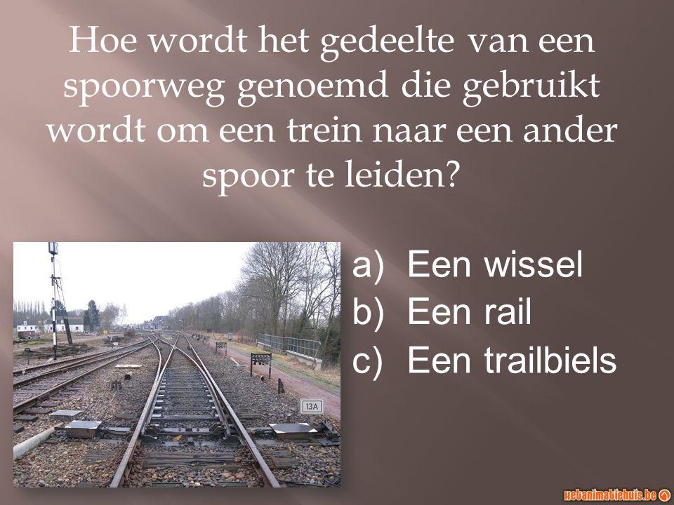 Hoe wordt het gedeelte van een spoorweg genoemd die gebruikt wordt om een trein naar een ander spoor te leiden