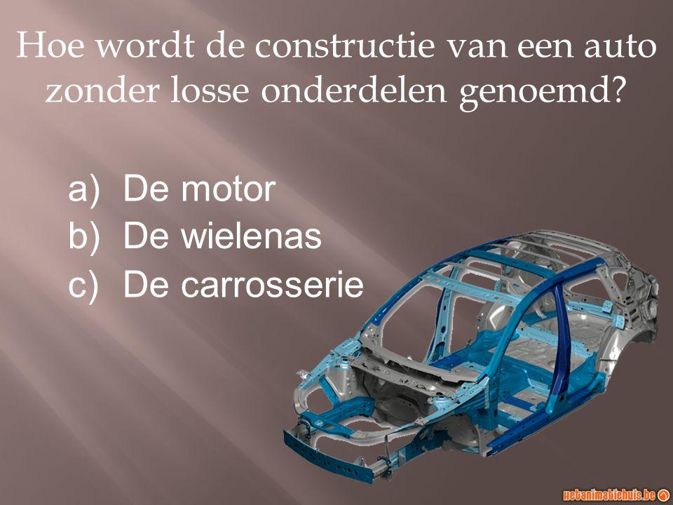 Hoe wordt de constructie van een auto zonder losse onderdelen genoemd