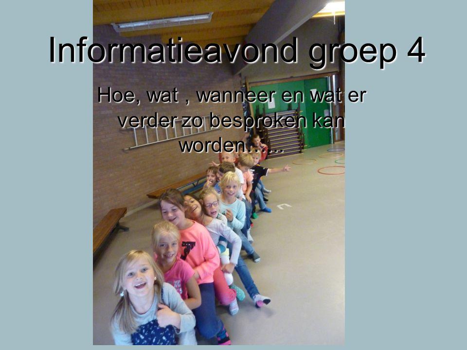 Informatieavond groep 4