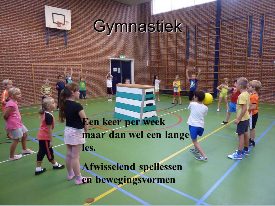 Gymnastiek Een keer per week maar dan wel een lange les.