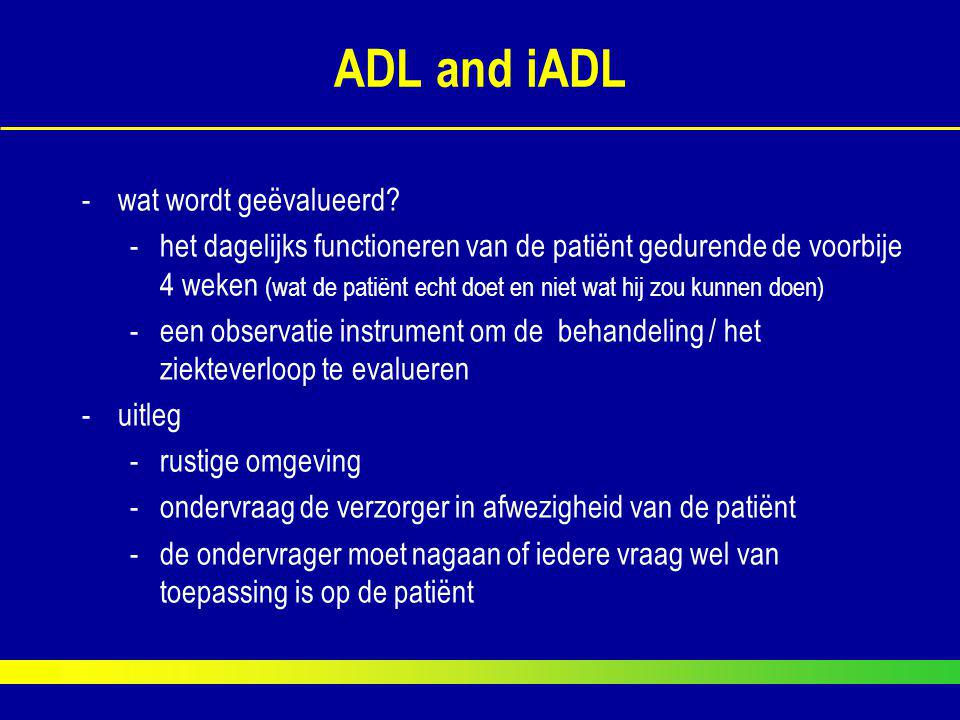ADL and iADL wat wordt geëvalueerd