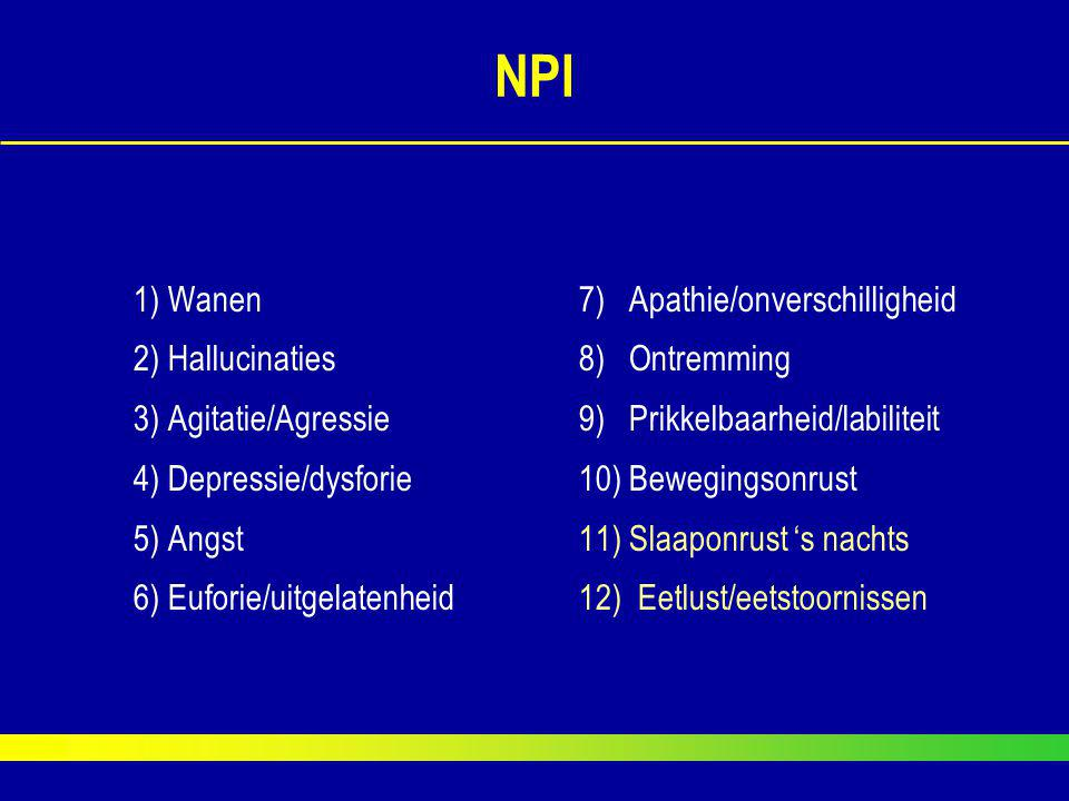 NPI 1) Wanen 7) Apathie/onverschilligheid