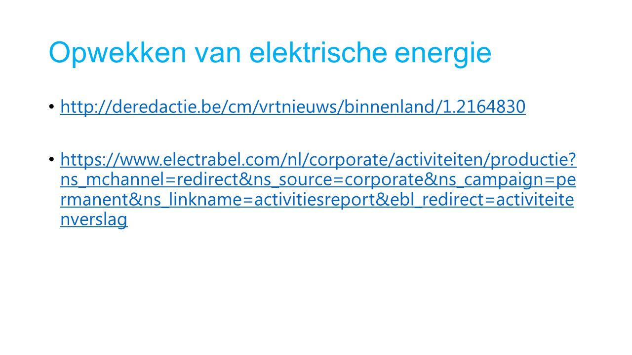 Opwekken van elektrische energie