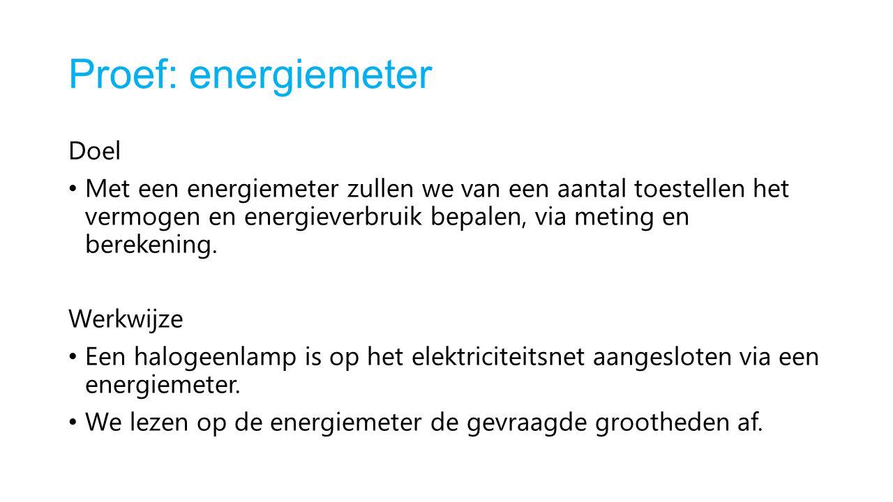 Proef: energiemeter Doel
