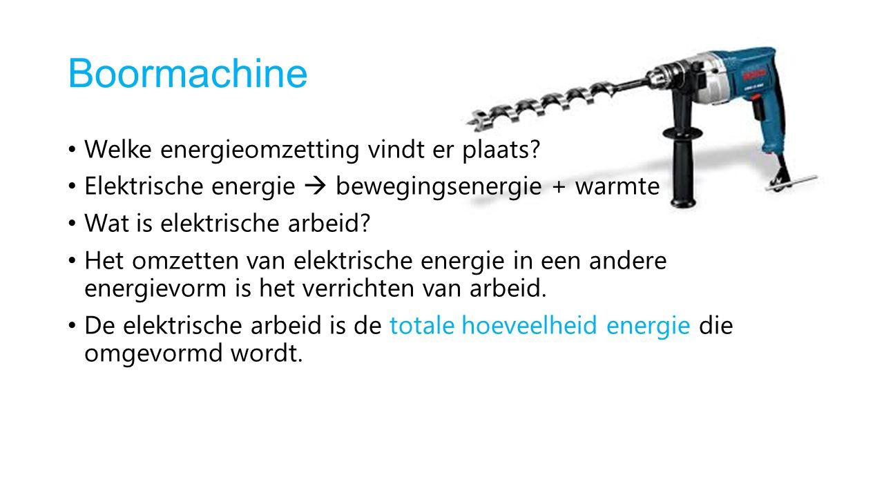Boormachine Welke energieomzetting vindt er plaats