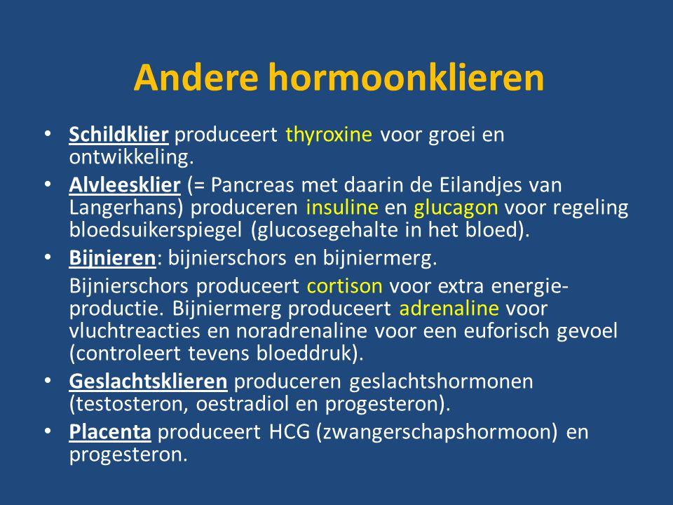 Andere hormoonklieren