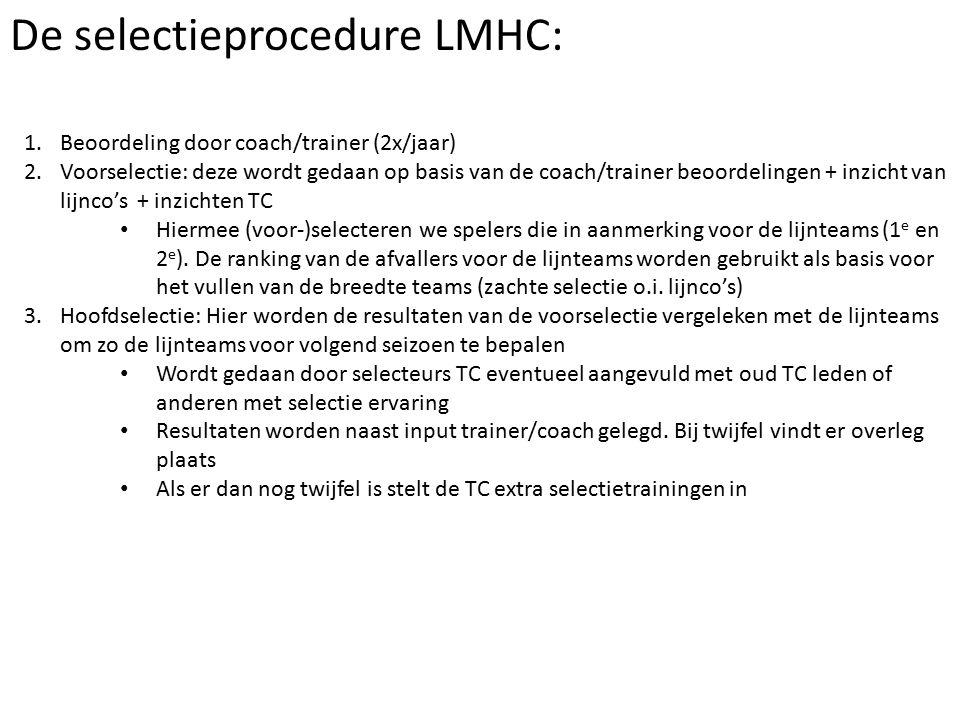 De selectieprocedure LMHC: