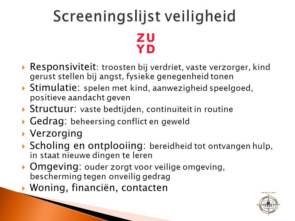 Screeningslijst veiligheid