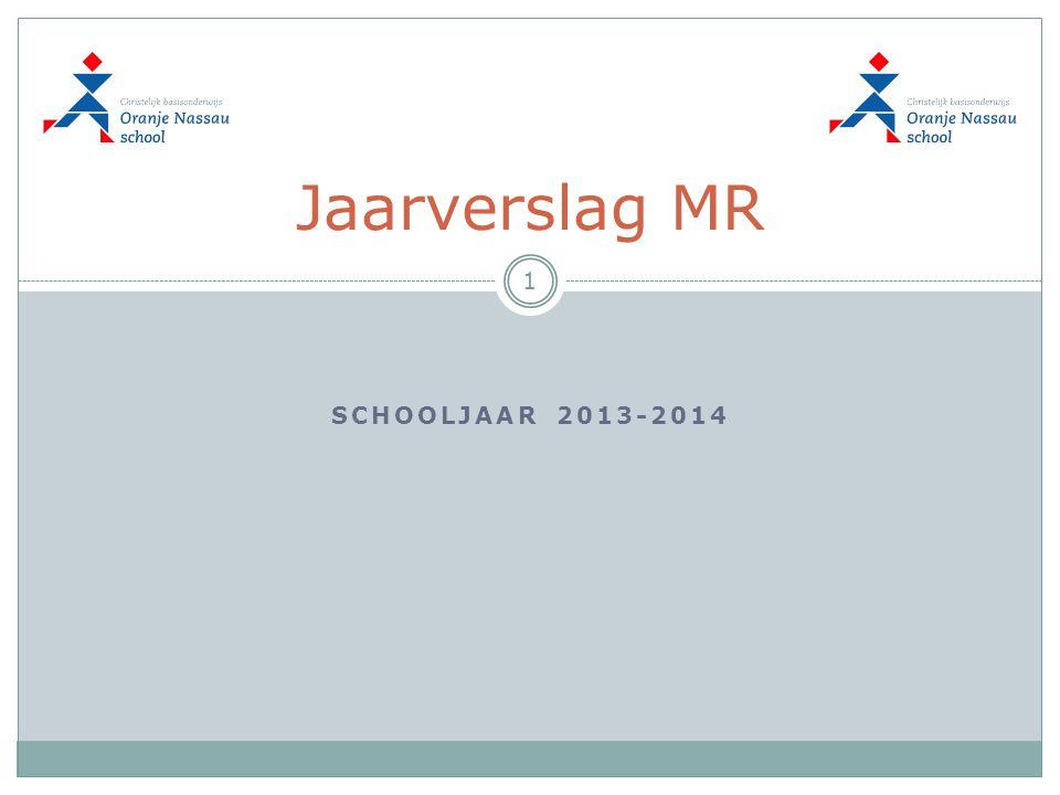 Jaarverslag MR SCHOOLJAAR 2013-2014