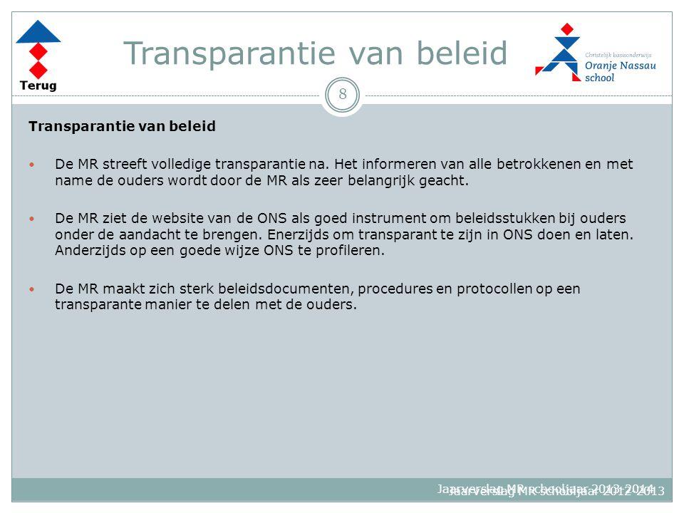 Transparantie van beleid
