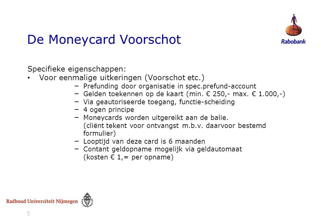 De Moneycard Voorschot