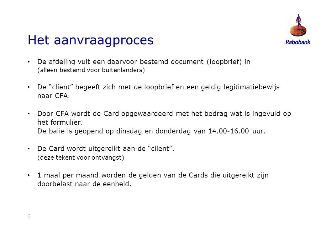 Het aanvraagproces De afdeling vult een daarvoor bestemd document (loopbrief) in. (alleen bestemd voor buitenlanders)