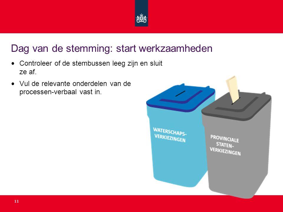 Dag van de stemming: start werkzaamheden