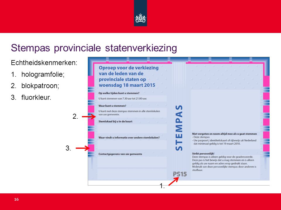 Stempas provinciale statenverkiezing