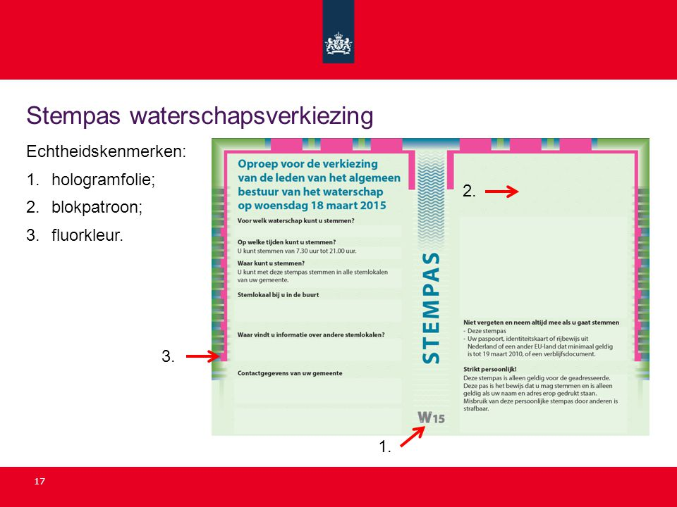 Stempas waterschapsverkiezing