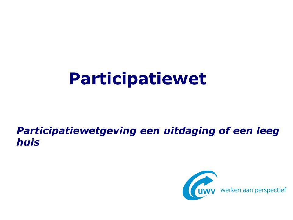 Participatiewetgeving een uitdaging of een leeg huis