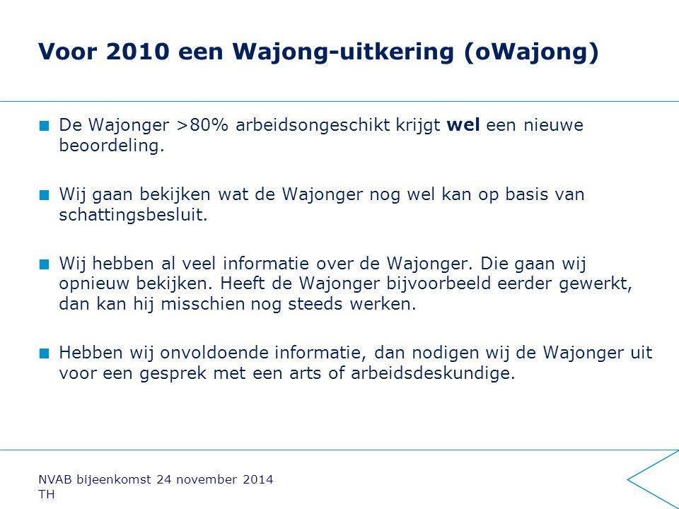 Voor 2010 een Wajong-uitkering (oWajong)