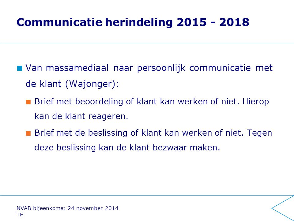 Communicatie herindeling 2015 - 2018