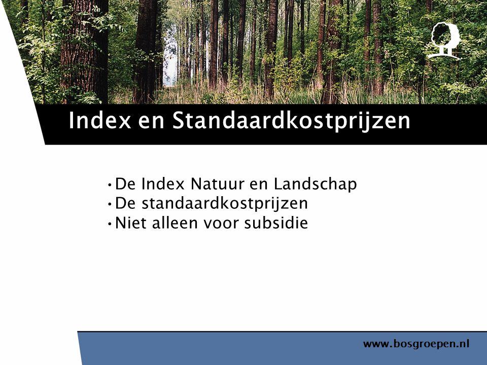 Index en Standaardkostprijzen