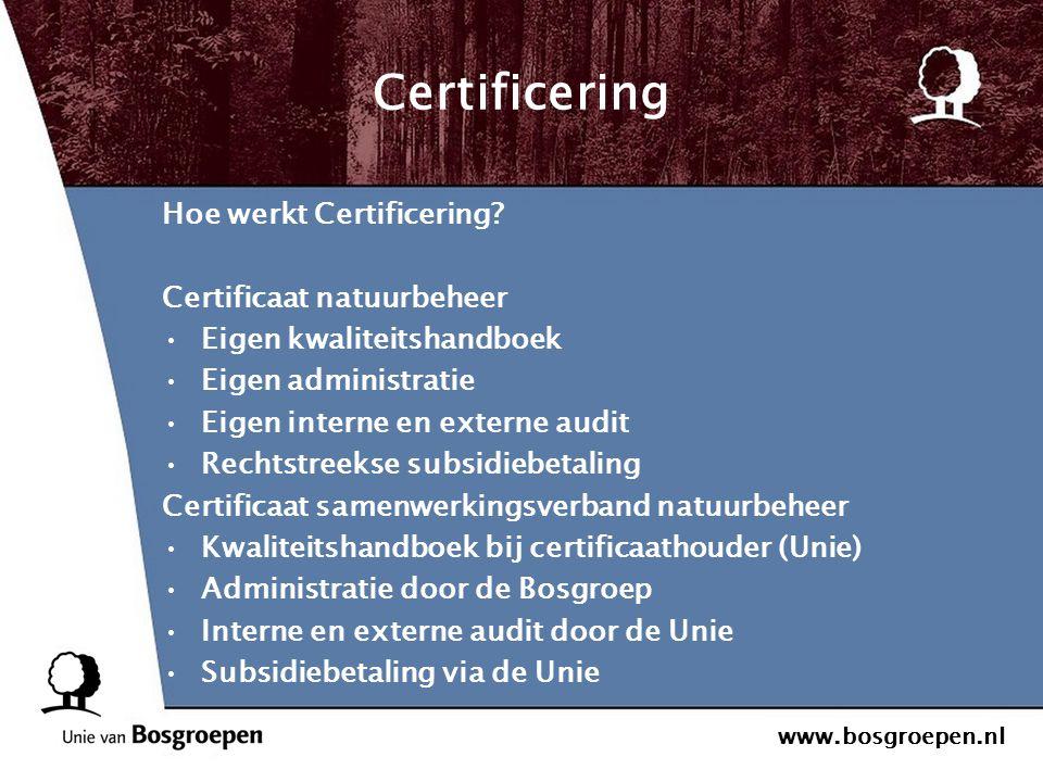 Certificering Hoe werkt Certificering Certificaat natuurbeheer