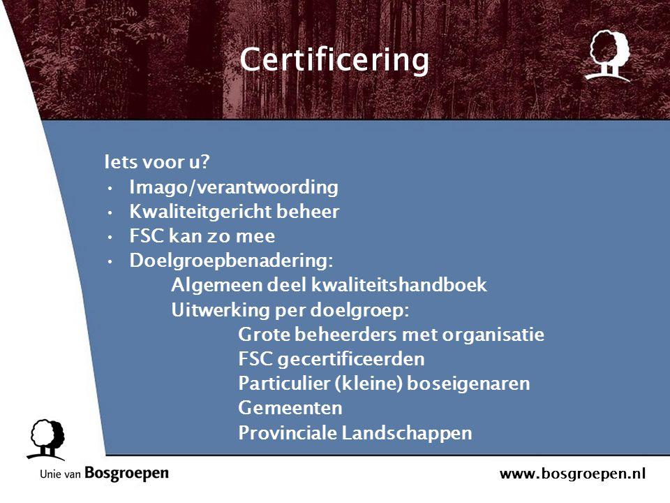 Certificering Iets voor u Imago/verantwoording