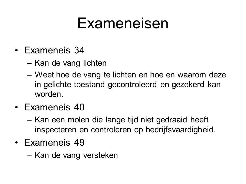 Exameneisen Exameneis 34 Exameneis 40 Exameneis 49 Kan de vang lichten