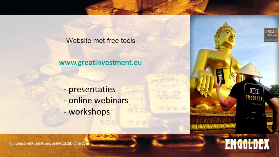 - presentaties - online webinars - workshops www.greatinvestment.eu