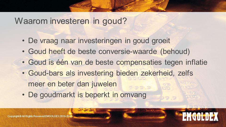 Waarom investeren in goud