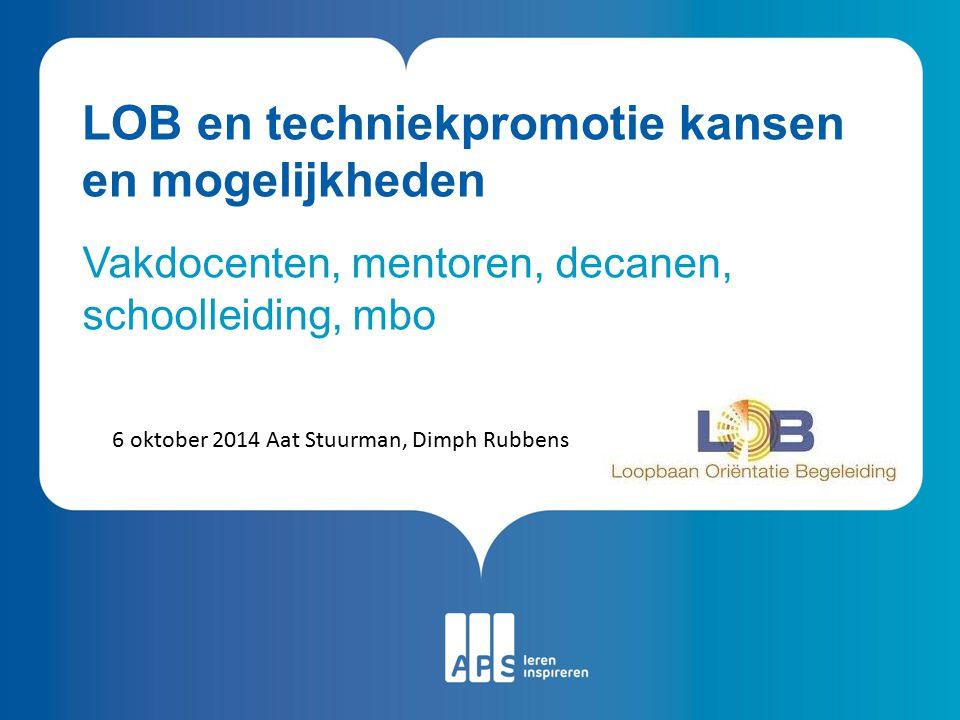 LOB en techniekpromotie kansen en mogelijkheden